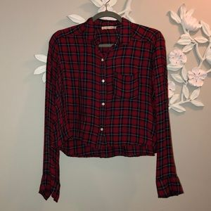 Abercrombie and Fitch crop flannel